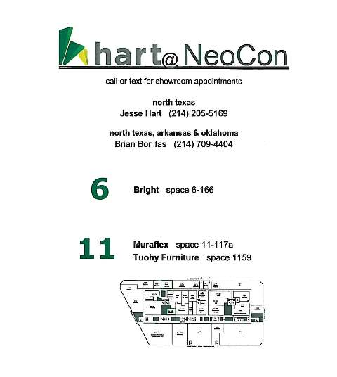 Hart @ the Mart: NeoCon 2016 Maps